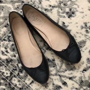 J. Crew Shoes - J. Crew Black Leather Ballet Flats